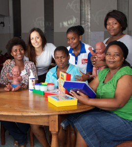 Pictured from left are Noxolo Nkuntele, Dr Lauren Stretch, Nonqaba Mapumla, Hlengiwe Dube, Bulelwa Ntoni and Patricia Kulati.